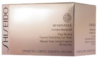 Shiseido Benefiance WrinkleResist24 Pure Retinol Exspress Smoothing Eye Mask